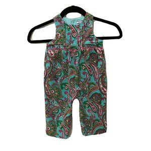 HARTSTRINGS Paisley Corduroy Overalls 12 Months